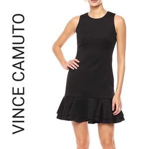 Vince Camuto: Sleeveless Ruffled-Hem Shift Dress